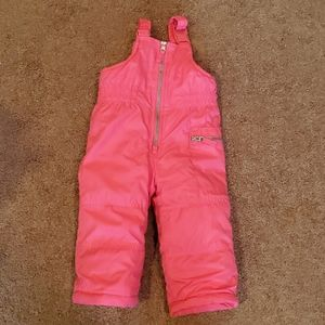 2/$12 Carter's pink snow pants size 18 months